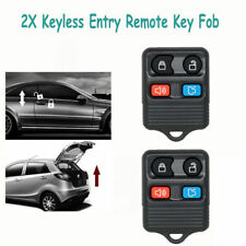 2XFord 4 Button Remote Key Fob Replacement Keyless Entry For Focus Mustang Milan