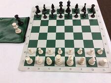 Tournament Regulation Chess Set - Plastic Pieces & Board & Bag- New