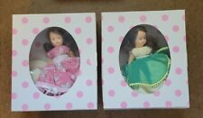 """2 Vintage 1986 Nancy Ann Storybook 5"""" Doll's Boxed - March & April Doll's"""