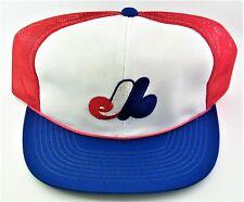 1980'S Montreal Expos Mesh Trucker Snapback Hat MLB Baseball Sports Specialties