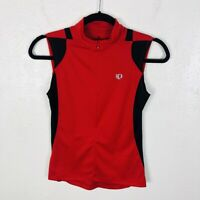 Pearl Izumi Size Small Sleeveless Half Zip Cycling Jersey Top Red Black
