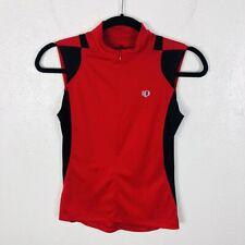 Pearl Izumi Size Small Sleeveless Half Zip Cycling Jersey Top Red Black