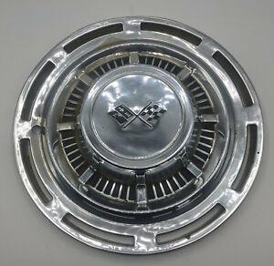 "14"" Chevrolet 1958-1961 Chevy Corvette Impala OEM Checkered Flag Hub Cap"