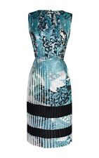 NEW $1000 Jonathan Saunders Rozelle Pleated Satin Dress Size FR 40 / US 8
