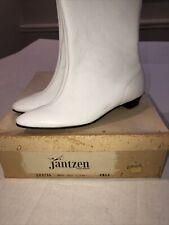 Jantzen White Go Go Boots Vintage Nos Nib 60s Sz 6 Aa Back Zip Up E89746 Mod