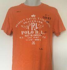 Polo Ralph Lauren Boy's Graphic Print Orange Shirt SS Size L(14-16) NWT