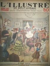 TRADITION FETE MARDI GRAS BAL TRAVESTI DEGUISEMENT LE PETIT JOURNAL 1933