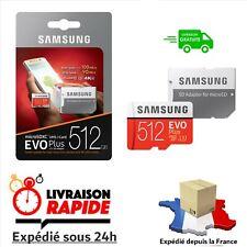 Carte Mémoire MICRO SD + adaptateur SAMSUNG EVO Plus 512Go (Emballage origine)