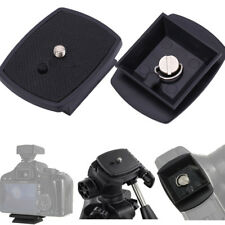 91bf9372725a Black Quick Release Plate Screw Adapter Tripod Mount Head For Camera New