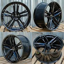 20 Inch Black Wheels 20x10 / 20x11 Fit Chevrolet Camaro Chevy Concave Set 4 Rims (Fits: Chevrolet)