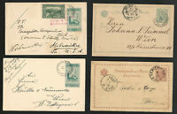 Bosnia Herzegovina, Lot of 4 Postal History / Postal Cards, Used 1888-1908