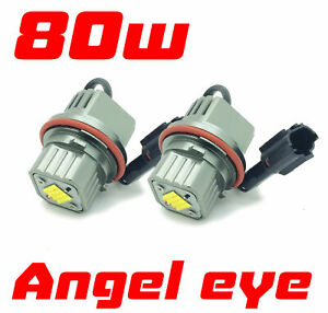 80w LED For BMW Angel Eye Upgrade Bulbs Halo For BMW X3 E83 LED xenon white