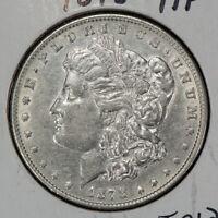 1878 7TF $1 MORGAN SILVER DOLLAR, AU DETAILS LOT#T012