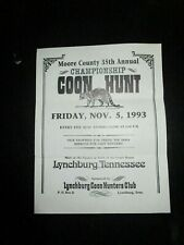 Jack Daniels Lynchburg Tenn. Moore County Coon Hunt Flyer 1993