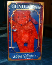 NEW LIMITED EDITION  - 2004 RED GUNDY COLLECTOR BEAR - IN ORIGINAL BOX