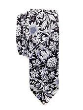 $124 TALLIA Men WHITE BLACK FLORAL SKINNY NECK TIE DRESS SLIM NECKTIE 58x2.75