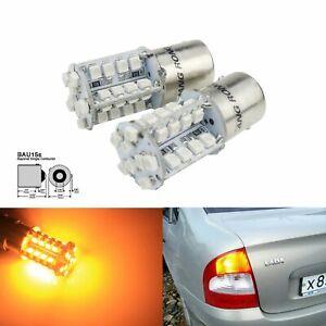 2Stück 581PY21WBAU15S 40 LED Tagfahrlicht Lampe Rücklicht Blinker DRL Amber