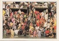 BF17838 benares ghats on the river ganges india front/back image