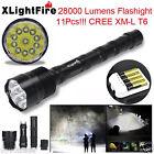 XLightFire 28000 Lumen 11x CREE XML T6 5 Mode 18650 (charger) LED Flashlight Lot
