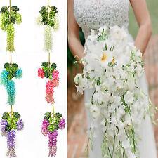 "43"" Artificial Silk Wisteria Fake Garden Hanging Flower Vine Home Wedding Decor"