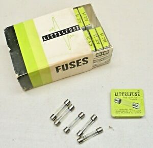 "AGC 15 LITTELFUSE Quality Glass Tube Fuse 15 AMP 32V 1/4"" NOS - BOX of 100"