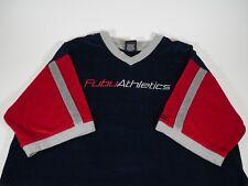 Vintage Anos 90 Fubu Athletics Veludo Camiseta Tamanho Xxl Masculino 1a3b578967a91
