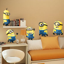 Minions Despicable Me 2 Removable Wall Stickers Nursery Decal Kids Room Decor