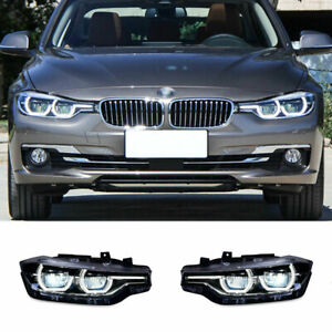 For BMW 3 Series F30 LED Headlights Projector LED DRL12-16 Replace OEM Halogen