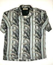 Men's TOMMY BAHAMA Hawaiian Short Sleeve Shirt Size XL Color Grey/Light Blue