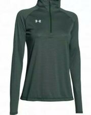 Under Armour Womens Tech 1/4 Zip Green Small Size 10 BNWT Loose Fit