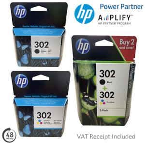 Genuine HP 302 Black or Colour Ink Cartridges F6U65A, F6U66A or X4D37AE