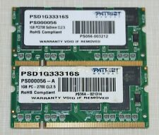 PATRIOT 2GB(2X1gb) PC2700 DDR-333 SODIMM Laptop Memory