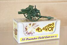 CRESCENT TOY 1249 WWI 18 POUNDER FIELD GUN CANNON 1914 - 1918 MATT GREEN nn