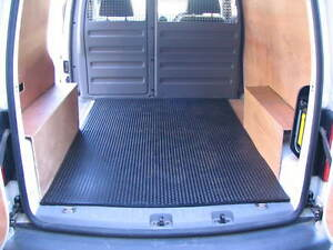 VW CADDY VAN INDESTRUCTIBLE RUBBER LOAD LINER MAT BEDLINER