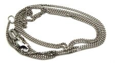 18CT SOLID WHITE GOLD CURB CHAIN NECKLACE 6.2gms 50cm EXPRESS POST IN OZ