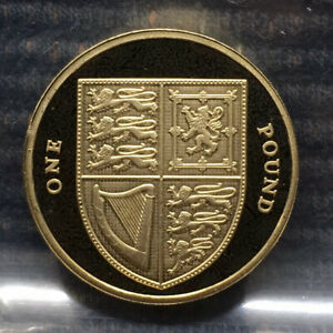 2012 Royal Shield of Arms PROOF £1 pound coin Royal Mint