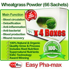 Easy Pha-max Organic Wheatgrass Powder x 4 (Pure, Fresh, Natural) HLS, INS