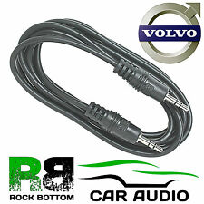 VOLVO XC60 XC70 XC90 V40 V50 V70 V90 3.5mm iPod iPhone MP3 AUX IN Car Lead Cable