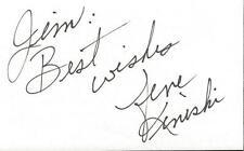 Gene Kiniski Signed 3x5 Index Card NWA