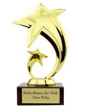 Stern Award mit Gravur Pokal Trophäe Geschenk Weihnachten Geburtstag Hochzeit