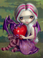 FAIRY ART PRINT Valentine Dragon by Jasmine Becket-Griffith 14x11 Gothic Poster