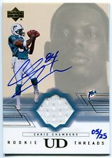 2001 Rookie Threads CHRIS CHAMBERS Auto Jersey RC 2004 Ultimate Buyback SP #/25