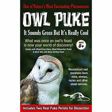 Gross Science ~ REAL OWL PUKE~ Dissection Kit 2 Owl Pellets- Tedco Toys #01900