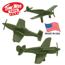 TimMee Processed Plastic Fighter Ace Planes Tim Mee Army Men Airplanes P-51 P-40
