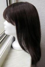 Perücke, lang, braun, glattes, feines Haar, neu