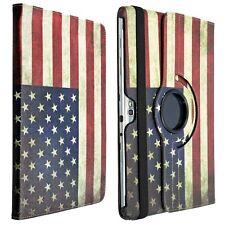 Kwmobile 360 ° funda protectora para Samsung Galaxy Note 10.1 bandera americana cuero artificial