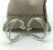 DAVID YURMAN 34mm Diameter Crossover Hoop Earrings in Sterling Silver