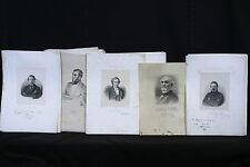 Membres du Gouvernement Provisoire 1848 & portraits gravés et signés Assemblée N