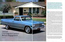 1964-1967 CHEVROLET EL CAMINO ~ GREAT 10-PAGE ARTICLE / AD