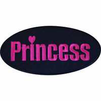 Embroidered Iron On Princess Patch Sew On Jacket Jeans T Shirt Bag Biker Badge